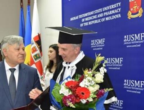 "James Pettit – doctor honoris causa al USMF ""Nicolae Testemițanu"""
